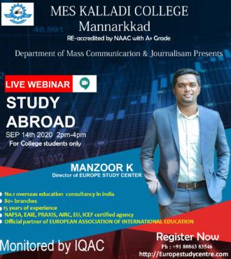 Study Aboard – Live Webinar