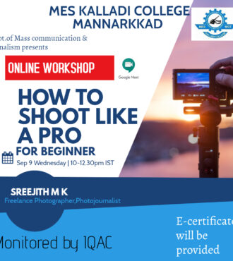 How to Shoot Like A Pro – Online Workshop