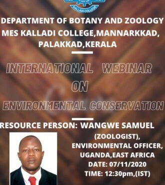 """International webinar on """"Environmental Conservation"""""""