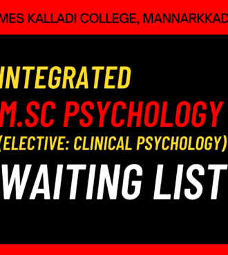Integrated MSc Psychology Waiting List