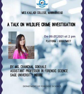 A Talk on Wildlife Crime Investigation