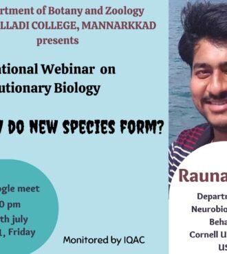 International webinar on 'How do new species form?'