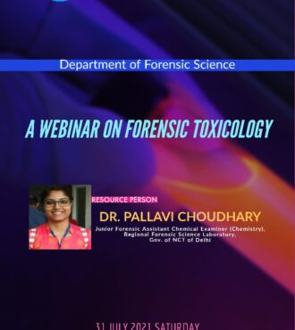 A webinar on Forensic Toxicology
