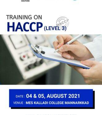 Training on HACCP (Level 3)