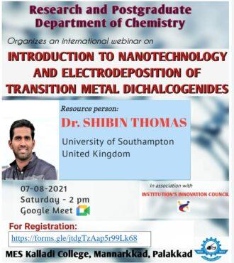 International Webinar on Introduction to Nano Technology