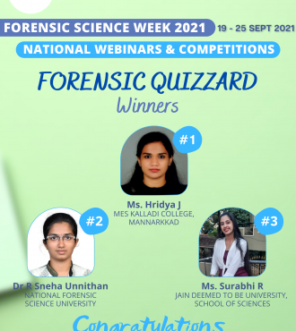 Forensic Week Competition Winners